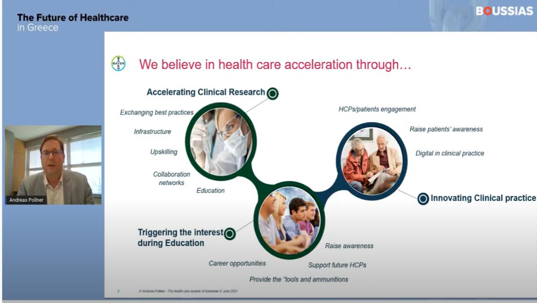 Andreas Pollner: Η υγειονομική περίθαλψη στο μέλλον θα μετασχηματιστεί σημαντικά και αυτό θα ξεκινήσει από την κλινική έρευνα και την κλινική πρακτική