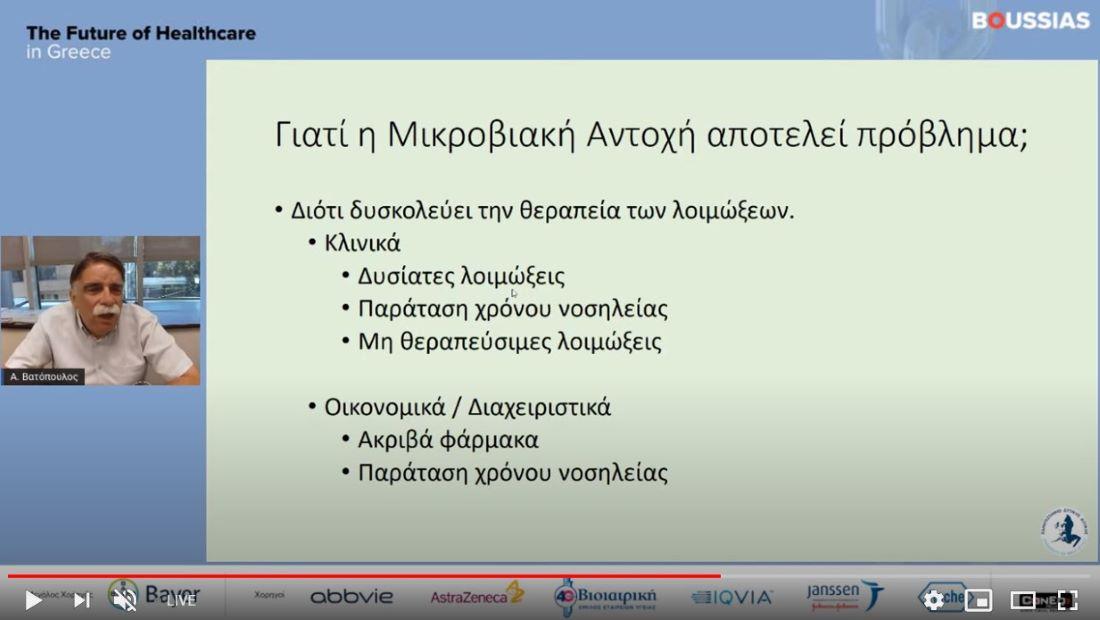Αλκιβιάδης Βατόπουλος: Αντιμικροβιακή Αντοχή, η αναδυόμενη απειλή της εποχής μας